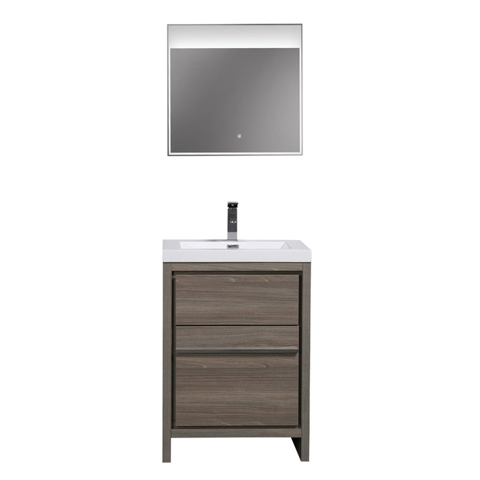 Aquamoon Granada 30 Maple Grey Free Standing  Modern Cabinet - CABINET ONLY