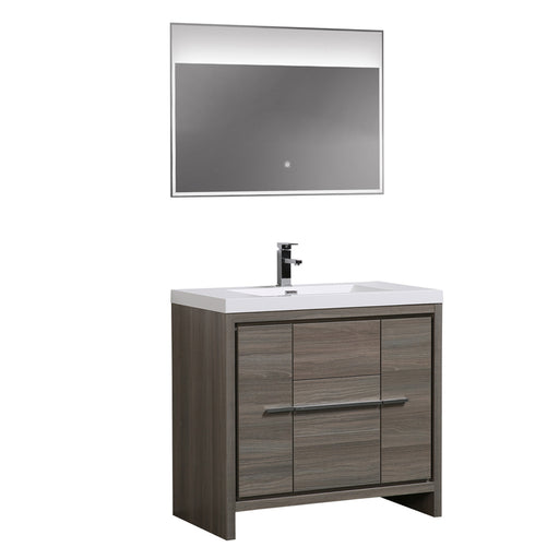 Aquamoon Granada 36 Maple Grey Free Standing Modern Bathroom Vanity Set - Bath Trends USA