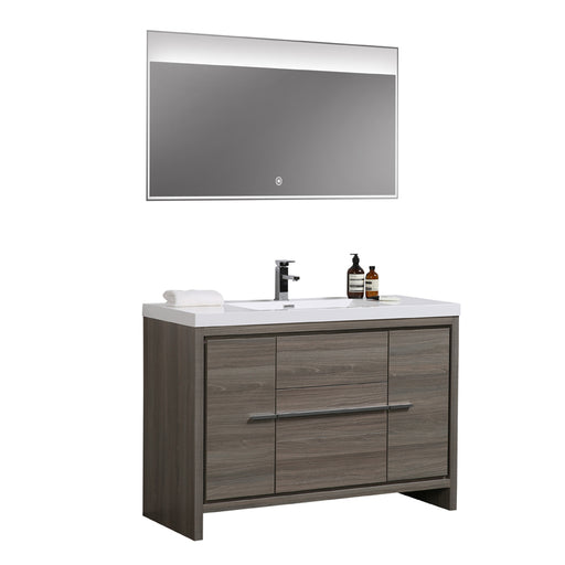 Aquamoon Granada 48 Maple Grey Free Standing Modern Bathroom Vanity Set