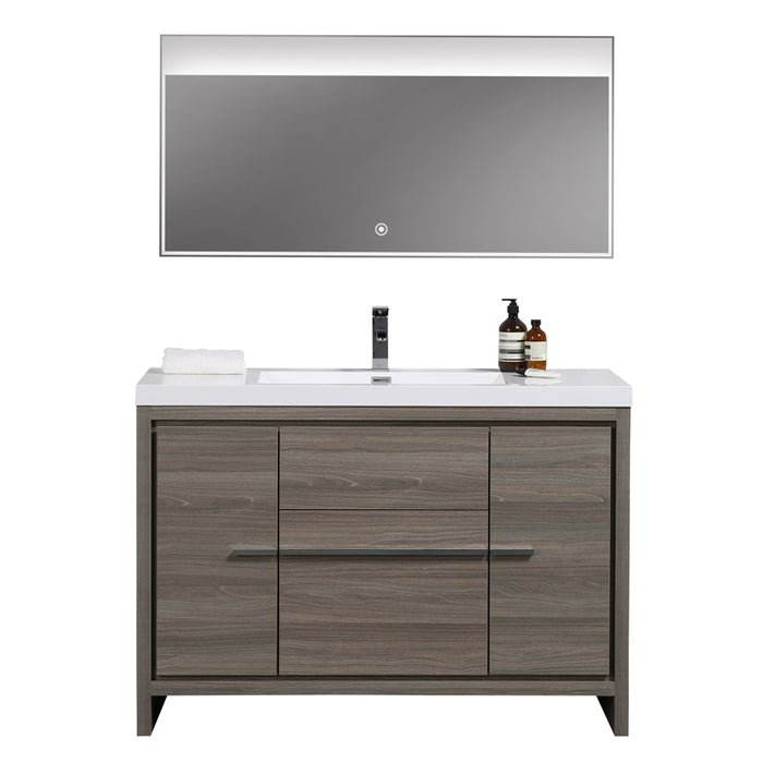 Aquamoon Granada 48 Maple Grey Free Standing  Modern Cabinet - CABINET ONLY