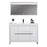 Aquamoon Granada 48 White Free Standing Modern Bathroom Vanity Set