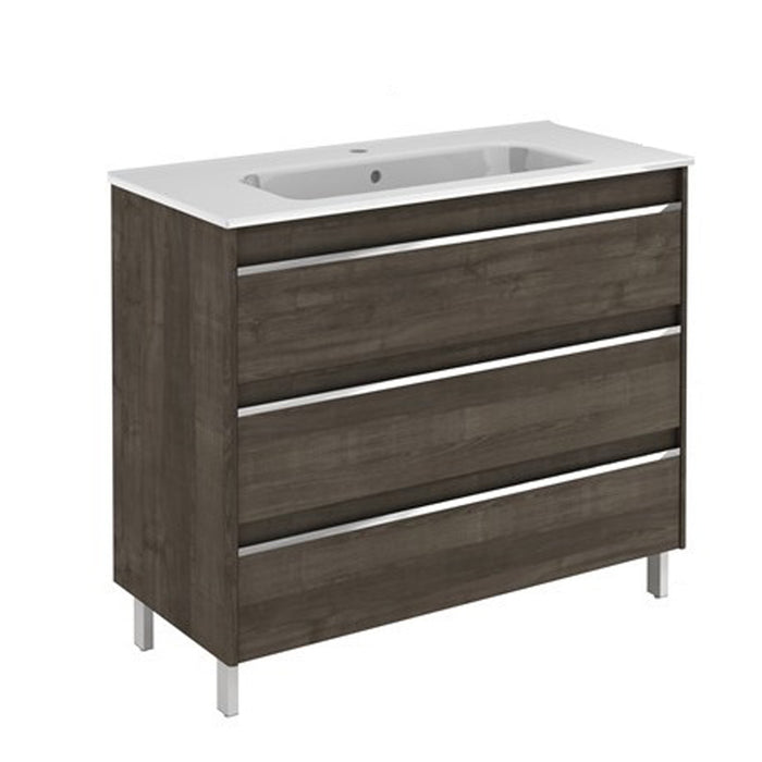 Aquamoon Ibiza 40 Ash Grey  Free Standing Modern Bathroom Vanity Set