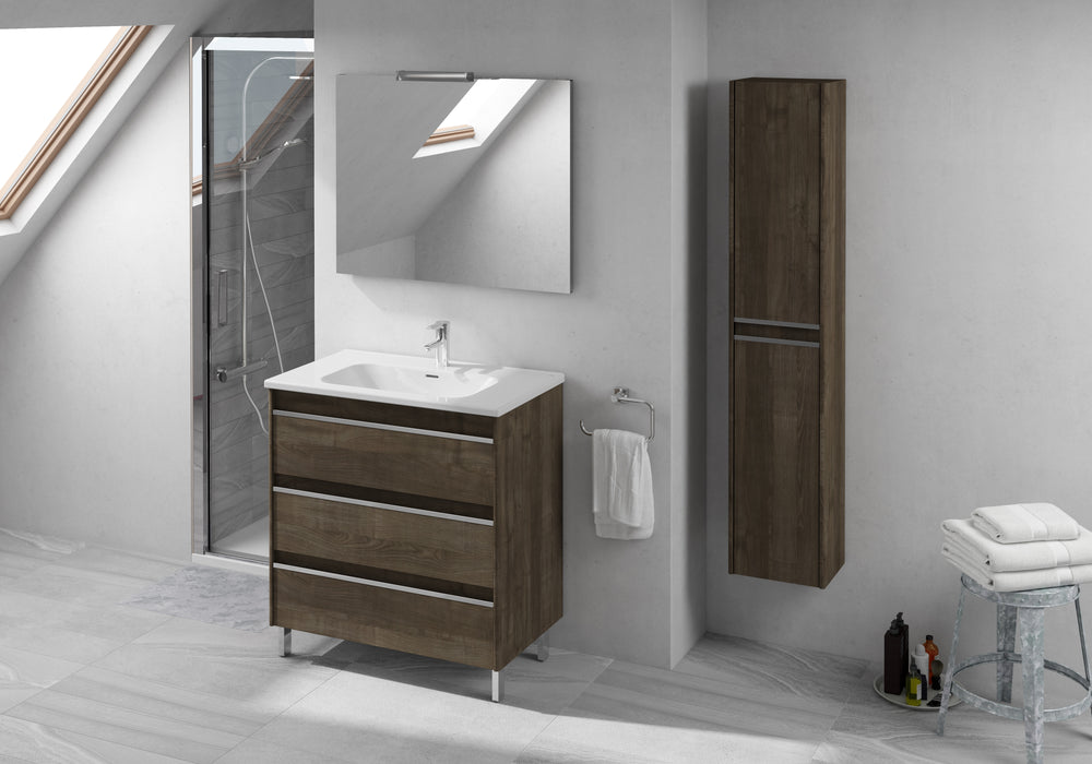 Aquamoon Ibiza 40 Ash Grey Free Standing Modern Bathroom Vanity Set - Bath Trends USA