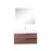 Aquamoon  Mallorca 31 Walnut Wall Mounted Modern Bathroom Vanity Set  With Acrylic Sink