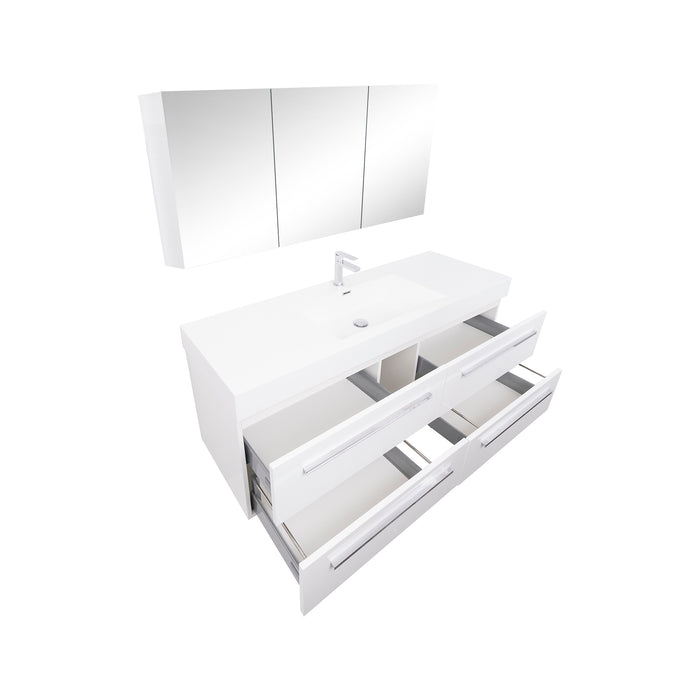 Maya 60 White Hg - CABINET ONLY