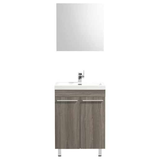 Aquamoon Ocean 24 Maple Grey Free Standing Modern Bathroom Vanity Set - Bath Trends USA