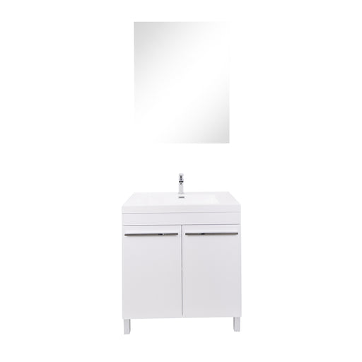 Aquamoon Ocean 24 White Free Standing Modern Bathroom Vanity Set - Bath Trends USA