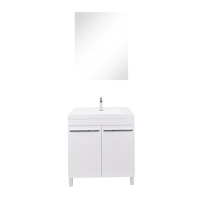 Aquamoon Ocean 24 White Free Standing Modern Bathroom Vanity Set