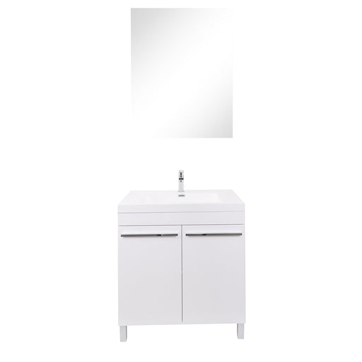 Aquamoon Ocean 31 White Free Standing Modern Bathroom Vanity Set