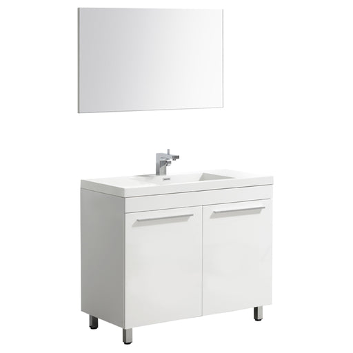 Aquamoon Ocean 48 White Free Standing Modern Bathroom Vanity Set