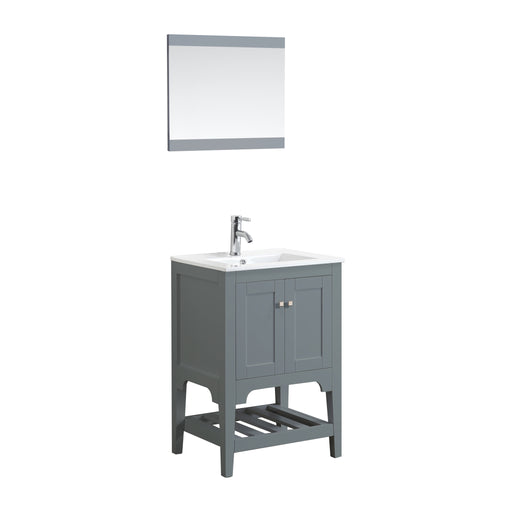 Aquamoon Rimini 24 Mat Grey Free Standing Modern Bathroom Vanity Set - Bath Trends USA