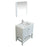 Aquamoon Rimini 31 White Free Standing Modern Bathroom Vanity Set - Bath Trends USA