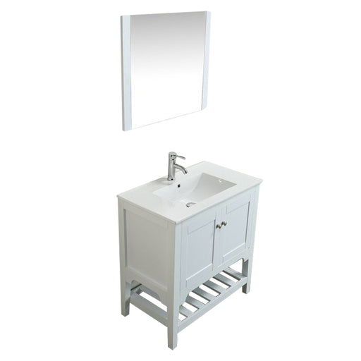 Aquamoon Rimini 31 White Free Standing Modern Bathroom Vanity Set