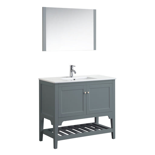 Aquamoon Rimini 39 Mat Grey Free Standing Modern Bathroom Vanity Set