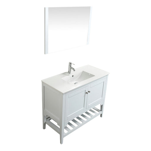 Aquamoon Rimini 39 White Free Standing Modern Bathroom Vanity Set