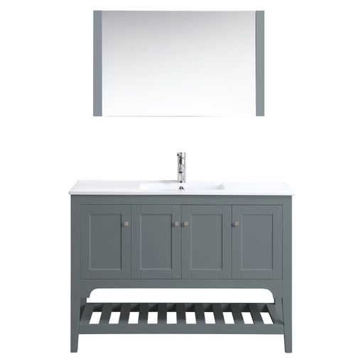 Aquamoon Rimini 48 Mat Grey Free Standing Modern Bathroom Vanity Set