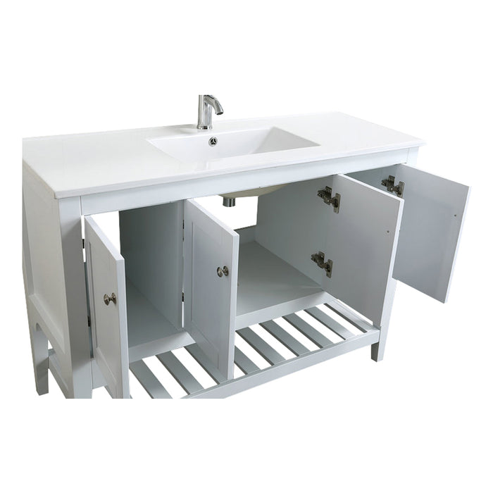 Aquamoon Rimini 48 White Free Standing Modern Bathroom Vanity Set