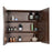 Aquamoon Sparta 31 Walnut Free Standing Modern Bathroom Vanity Set