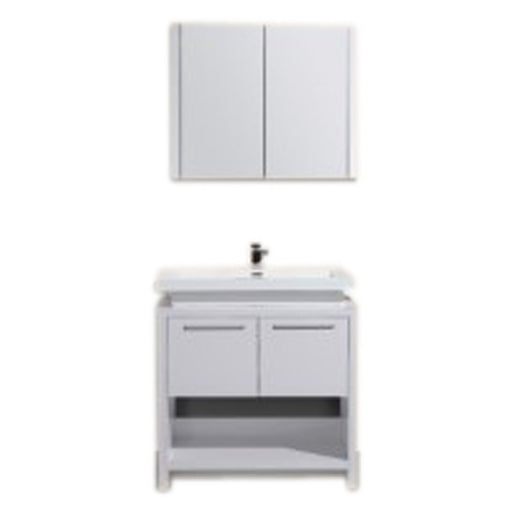 Aquamoon Sparta 31 White Free Standing Modern Bathroom Vanity Set