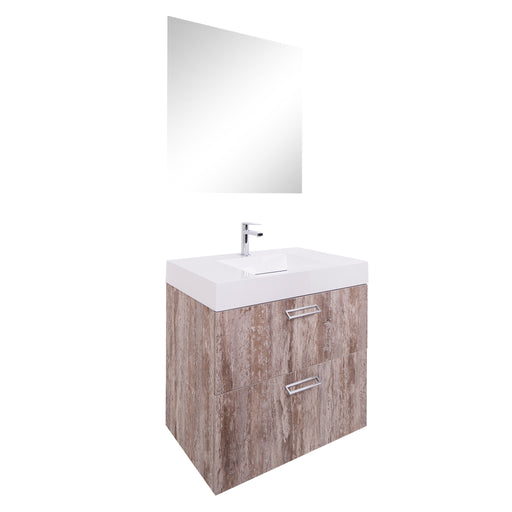 Aquamoon Sunrise 24 Infinity Sink Ashwood  Wall Mounted Modern Bathroom Vanity Set