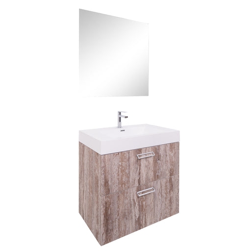 Aquamoon Sunrise 24 Ashwood Wall Mounted Modern Bathroom Vanity Set - Bath Trends USA