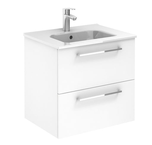 Aquamoon Valencia 24 White Wall Hung Modern Bathroom Vanity Set - Bath Trends USA