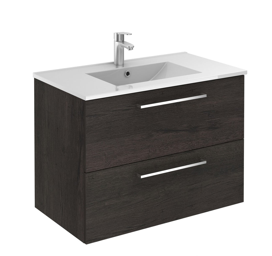 Aquamoon Valencia 32 Wendge Wall Hung Modern Bathroom Vanity Set