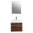 Aquamoon Venice 24 Infinity Sink Walnut  Wall Mounted Modern Bathroom Vanity Set