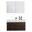 Aquamoon Venice 36 Maple Grey Wall Mounted Modern Bathroom Vanity Set