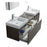 Aquamoon Venice 69 Double Sink Grey Brown Wall Mounted Modern Bathroom Vanity Set