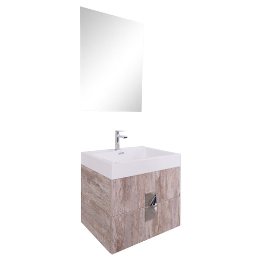 Aquamoon Venus 24  Ashwood  Wall Mounted Modern Bathroom Vanity Set