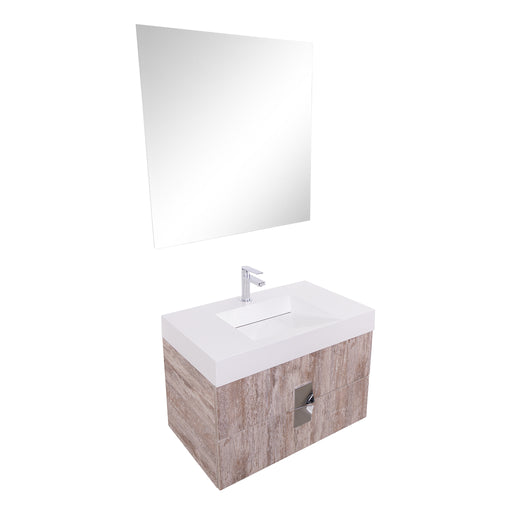 Aquamoon Venus 31 Infinity Sink Ashwood  Wall Mounted Modern Bathroom Vanity Set