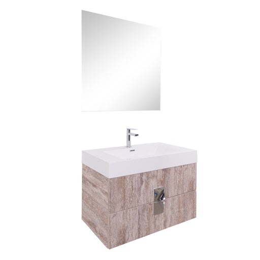 Aquamoon Sunrise 31 Ashwood  Wall Mounted Modern Bathroom Vanity Set