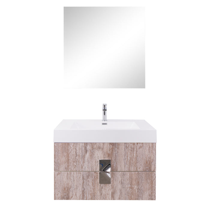 Aquamoon Venus 31 Ashwood Wall Mounted Modern Bathroom Vanity Set - Bath Trends USA