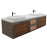 Aquamoon Verona 60 Brown Wall Mounted Modern Bathroom Vanity Set w/ Double Sinks