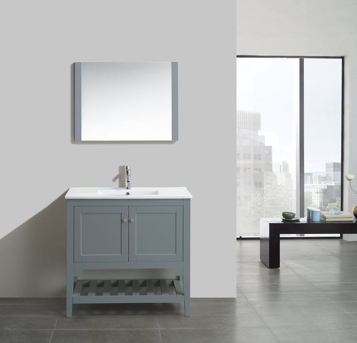 Aquamoon Rimini 36 Mat Grey Free Standing Modern Bathroom Vanity Set