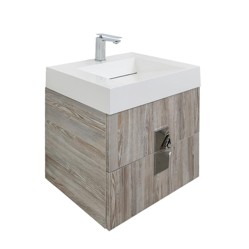 Aquamoon Venus Wall Mounted Modern Bathroom Vanity Set-Aida Grey - Bath Trends USA