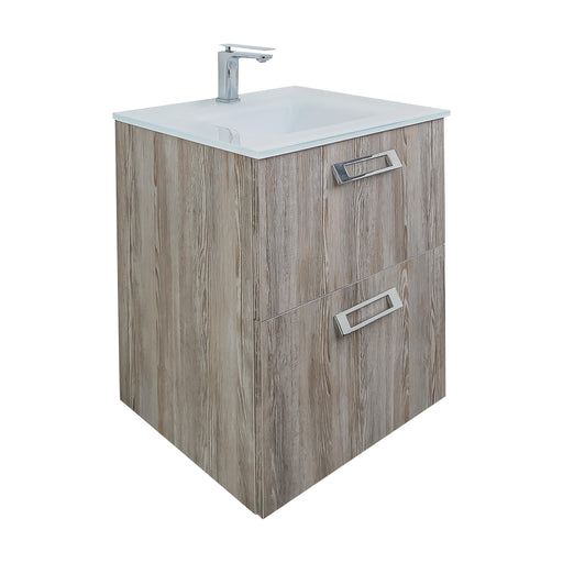 Aquamoon Sunrise Wall Mounted Modern Bathroom Vanity Set-Aida Grey - Bath Trends USA