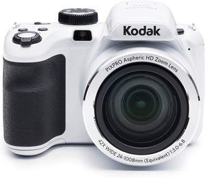 "KODAK PIXPRO Astro Zoom AZ421-WH 16MP Digital Camera with 42X Optical Zoom and 3"" LCD Screen (White)"