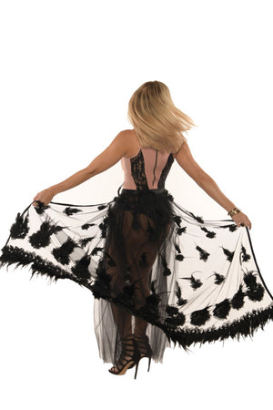 <b>ORCHID</b><br>FEATHER MESH COVER SKIRT