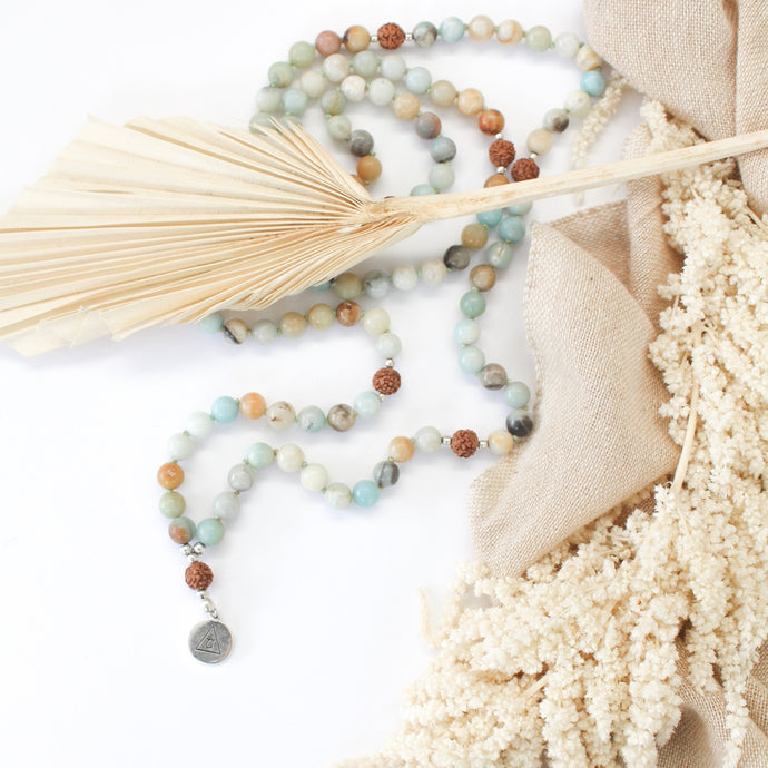 Amazonite Mala Beads for Calm