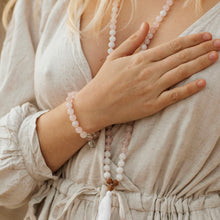 Load image into Gallery viewer, LOVE & INTUITION - Rose Quartz & White Moonstone Mala
