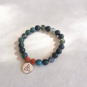CONNECTION - Moss Agate Bracelet