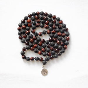 INNER POWER - Red Tiger's Eye & Lava Mala