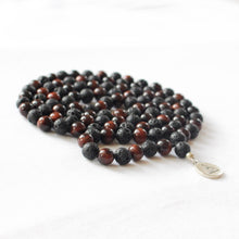 Load image into Gallery viewer, INNER POWER - Red Tiger's Eye & Lava Mala