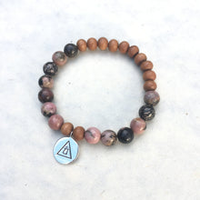 Load image into Gallery viewer, HEART - Rhodonite Bracelet
