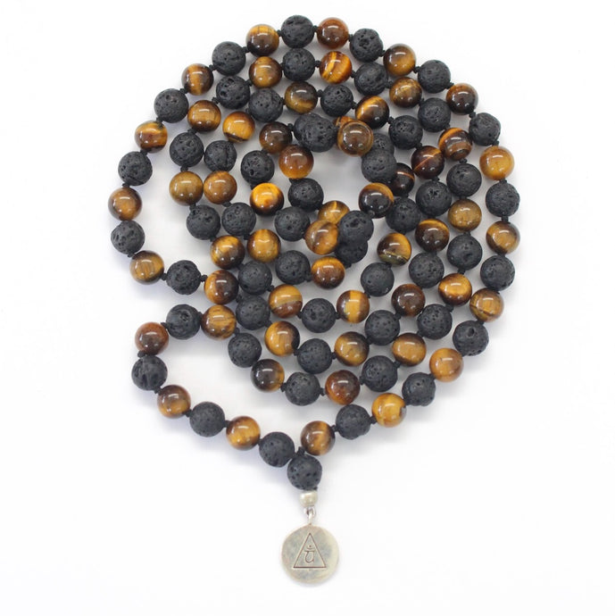 GROUNDING - Tiger's Eye & Lava Mala
