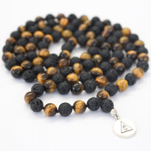 Load image into Gallery viewer, GROUNDING - Tiger's Eye & Lava Mala