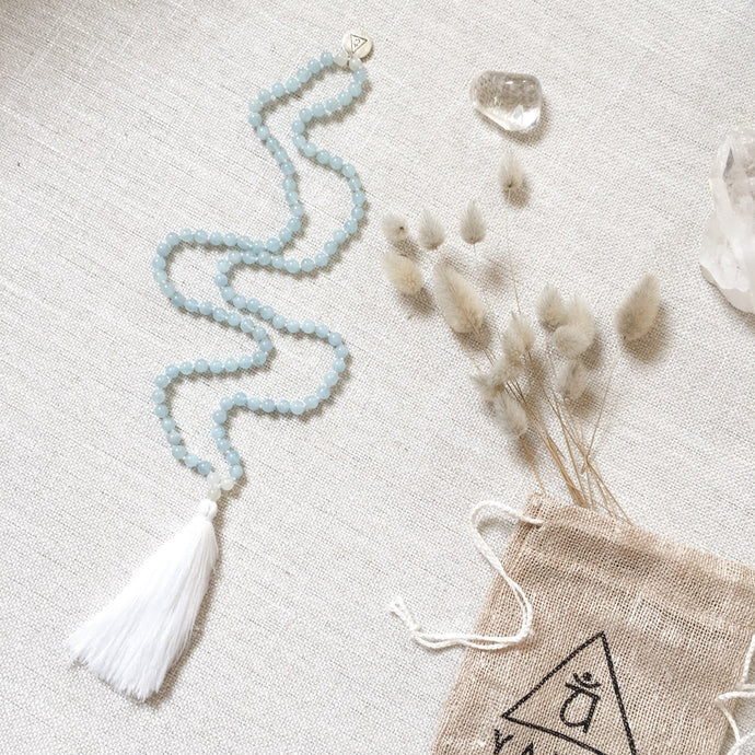 Aquamarine Moonstone Mala