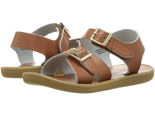 Footmates Tide Sandal in Tan, Taffy & Navy